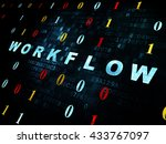 finance concept  pixelated blue ... | Shutterstock . vector #433767097