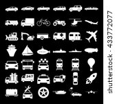 transport icons. concept... | Shutterstock . vector #433772077