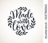 made with love lettering card.... | Shutterstock .eps vector #433780063