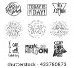 inspirational typography life... | Shutterstock .eps vector #433780873