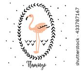 blush pink flamingo in the... | Shutterstock .eps vector #433787167