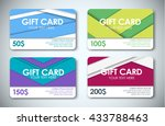 template color gift cards  face ... | Shutterstock .eps vector #433788463
