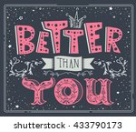 stylish inspirational humor... | Shutterstock .eps vector #433790173