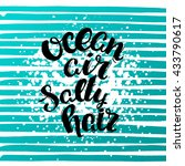 trendy hand lettering poster.... | Shutterstock . vector #433790617