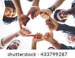 bump hands togetherness... | Shutterstock . vector #433799287