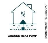 ground heat pump | Shutterstock .eps vector #433809997