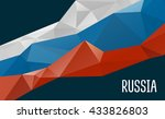 stylized background russia flag ... | Shutterstock .eps vector #433826803
