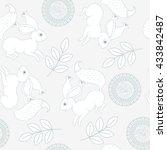 seamless animal pattern  vector ... | Shutterstock .eps vector #433842487