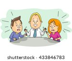 illustration of an arguing... | Shutterstock .eps vector #433846783