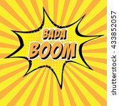 bada boom  colorful speech... | Shutterstock .eps vector #433852057