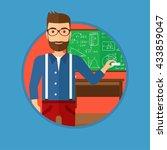 a hipster teacher with the... | Shutterstock .eps vector #433859047