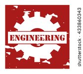 engineering text on logo rubber ...