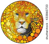 lion vector illustration.... | Shutterstock .eps vector #433860733