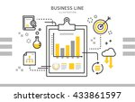 business line illustration  | Shutterstock .eps vector #433861597