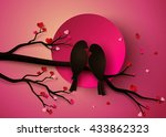 concept of love and valentine... | Shutterstock .eps vector #433862323