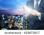 double exposure of professional ... | Shutterstock . vector #433872817