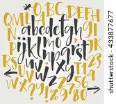 alphabet letters  lowercase ... | Shutterstock .eps vector #433877677