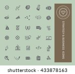 strategy and business icon set... | Shutterstock .eps vector #433878163