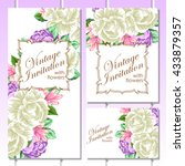 vintage delicate invitation... | Shutterstock . vector #433879357