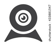 web camera icon jpg | Shutterstock .eps vector #433881547