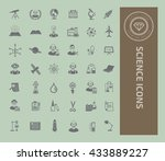 science icon set vector | Shutterstock .eps vector #433889227