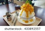 mango with shaved ice milk... | Shutterstock . vector #433892557