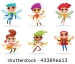 vector set of cartoon images of ... | Shutterstock .eps vector #433896613
