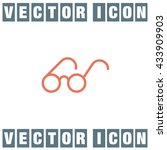 glasses sign line vector icon....