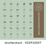 seo development icon set vector | Shutterstock .eps vector #433910047