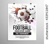 football soccer game tournament ... | Shutterstock .eps vector #433911847