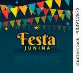 latin american festa junina... | Shutterstock .eps vector #433912873