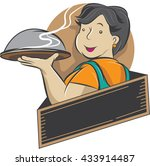 cooking mama   cartoon cafe... | Shutterstock .eps vector #433914487