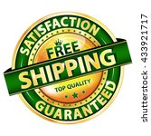 free shipping  satisfaction... | Shutterstock .eps vector #433921717