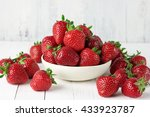 Heap Of Fresh Strawberries In...