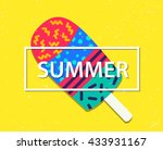 vector summer card with ice... | Shutterstock .eps vector #433931167