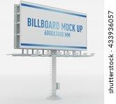 billboard mock up isolated on... | Shutterstock . vector #433936057