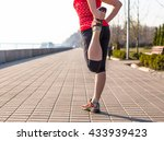 fitness woman doing exercises... | Shutterstock . vector #433939423