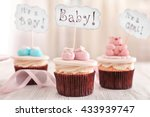 delicious cupcakes with text | Shutterstock . vector #433939747