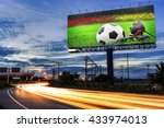 football in the field with... | Shutterstock . vector #433974013