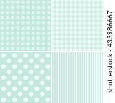Stock vector set of four cute backgrounds in blue colors ideal for baby shower 433986667