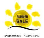 vector yellow sunshine sun with ... | Shutterstock .eps vector #433987543
