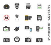 color icon set   camera and... | Shutterstock .eps vector #433995793