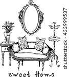sweet home. vector illustration ... | Shutterstock .eps vector #433999537