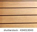 brown wood plank wall texture... | Shutterstock . vector #434013043