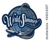 logo world summer    Shutterstock .eps vector #434014207