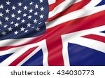 3d illustration of usa and uk... | Shutterstock . vector #434030773