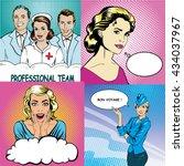 people characters stock vector... | Shutterstock .eps vector #434037967