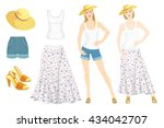 vector illustration of young...   Shutterstock .eps vector #434042707