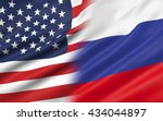 3d illustration of usa and... | Shutterstock . vector #434044897