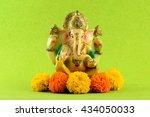 hindu god ganesha. ganesha idol ... | Shutterstock . vector #434050033